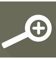 Zoom in web icon vector image vector image