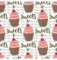 cupcakes seamless pattern Doodle vector image