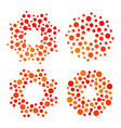 isolated abstract round shape orange and red color vector image
