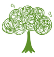 A drawing of a green tree vector image vector image