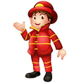 A fireman with a complete uniform vector | Price: 1 Credit (USD $1)