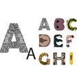 abc wild animals vector image vector image