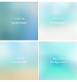 Abstract blue sea summer blurred backgrounds vector image vector image