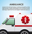 ambulance design vector image vector image