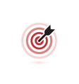 arrow hit target icons flat winner symbol vector image vector image