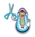 barber classic sneaker character style vector image
