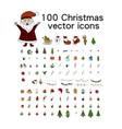big christmas icon set 100 winter icons vector image vector image