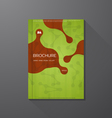 Book cover green vector image vector image