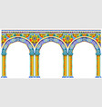 bright arch of oriental palace vector image