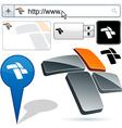 Business 3D fan logo design vector image vector image
