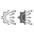 business intelligence line and glyph icon vector image vector image