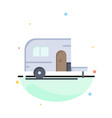 caravan camping camp travel abstract flat color vector image vector image