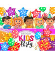 children birthday party design vector image vector image