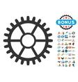 Clock Wheel Icon With 2017 Year Bonus Symbols vector image vector image