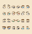 collection of woman eyes vector image vector image