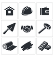 Construction and home repair icon collection vector image