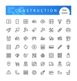 Construction Line Icons Set vector image vector image