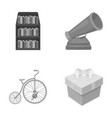 education circus and other monochrome icon in vector image