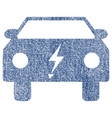 electric power car fabric textured icon vector image