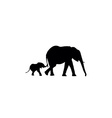 Elephant silhouette vector image