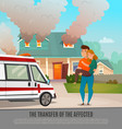emergency first aid people poster vector image vector image