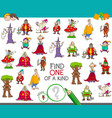 find one of a kind with fantasy characters vector image vector image