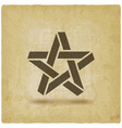 five-pointed star symbol on vintage background vector image vector image