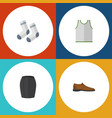 flat icon dress set of male footware stylish vector image vector image