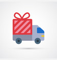 free delivery trendy symbol vector image