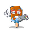 gamer ice cream character cartoon vector image