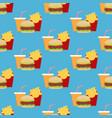 hamburger fast food seamless pattern vector image