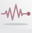 Heart beat cardiogram vector image vector image