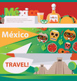 horizontal banners dedicated to mexican vector image