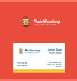 hydrant logo design with business card template vector image