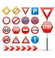 icons set of road signs vector image vector image