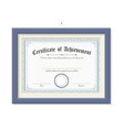 isolated certificate of achievement on wood frame vector image vector image
