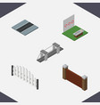 isometric architecture set of aiming game path vector image vector image