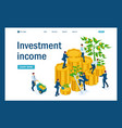 isometric businessmen insure money vector image