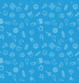 junk food blue pattern seamless texture vector image