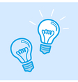 Lamp Bulb Idea Icon Simple Blue vector image vector image