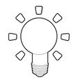 Lamp icon outline style vector image