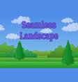 landscape summer forest seamless vector image vector image