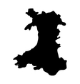 map wales vector image