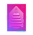 minimal cover design abstract geometric poster vector image vector image