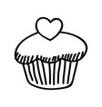 mothers day cake hand drawn icon design sign vector image