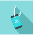 phishing smartphone icon flat style vector image vector image