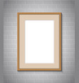 picture frame border vector image vector image