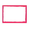 Pink grunge frame vector image vector image