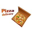 Pizza italian background vector image