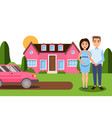 pregnancy final in wealthy family vector image
